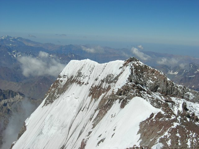 View from the summit of Aconcagua