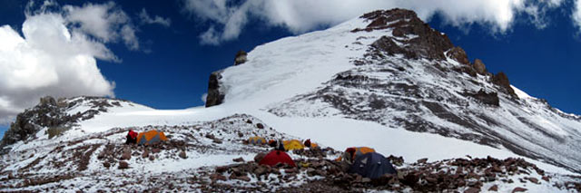 Final push to North Summit of Aconcagua